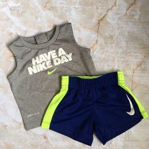 Nike 2-pc Dri-Fit Tank/Short Set 0/3mo